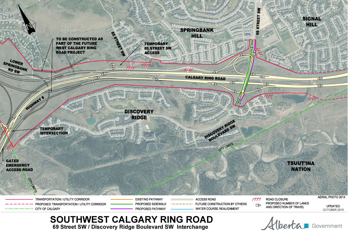 Calgary Sw Ring Road Map 2015 Southwest Calgary Ring Road Maps – Calgary Ring Road