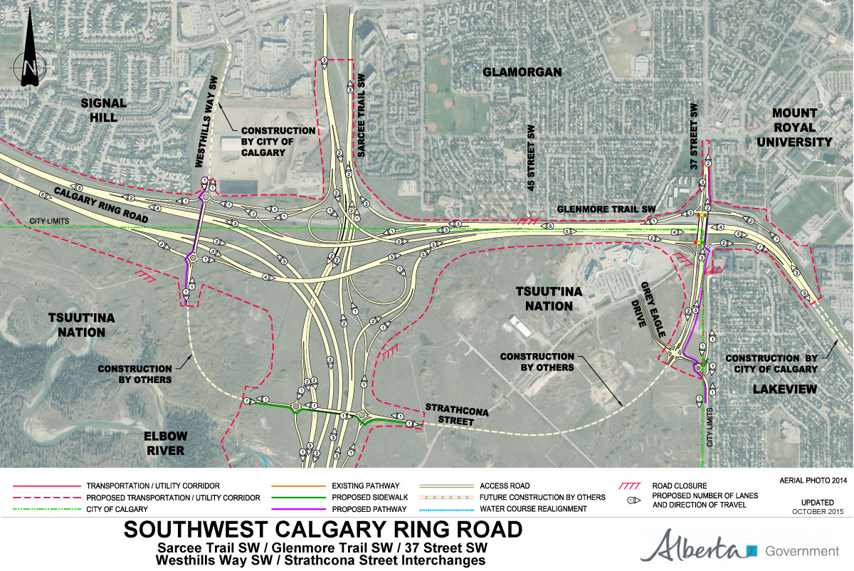 Calgary Sw Ring Road Map Southwest Calgary Ring Road – Calgary Ring Road