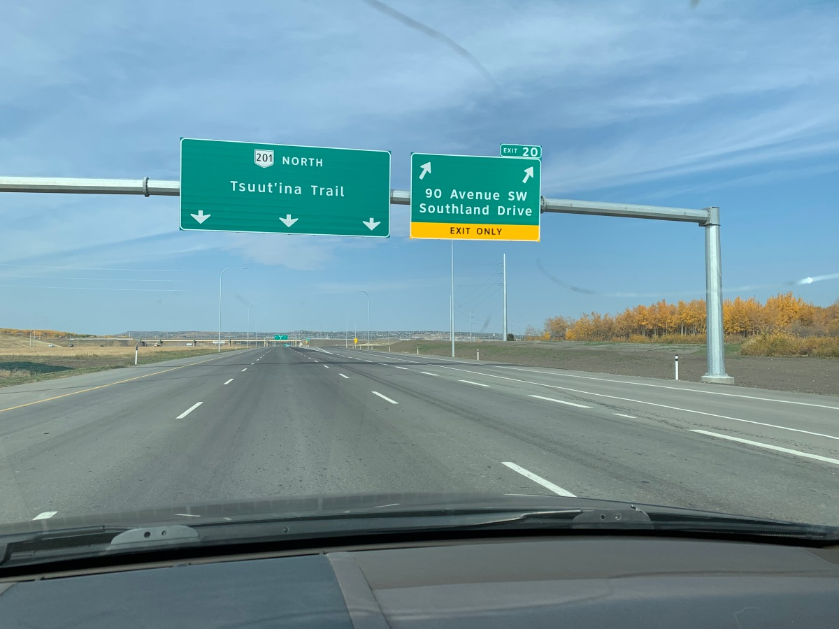 Tsuut'ina Trail portion of the Southwest Ring Road nowopen